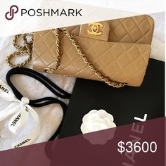 🎉HOST PICK🎉 CHANEL Small Double Flap 24k GHW 🎉Help Me Get To PoshFest HOST PICK🎉 Authentic CHANEL Rare sized small double flap in tan lambskin leather w/ 24k gold hardware. Made in France! Includes authenticity card/dustbag/box&gift bag. Please be considerate: 🚫NO TRADE/NO LOWBALL/ NO PP🚫 **NO BUNDLE DISCOUNT on Chanel handbags unless specified** Only inquiries from Serious Buyers. *Sharing another one of my babies: Not sure if selling yet* CHANEL Bags Shoulder Bags