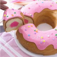 Donut cakes are the new THING! when it comes to party time. I am so happy I didn't throw out my round Bundt mold last week. Donuts are really here to stay and this is another way of eating th…