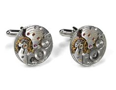 Steampunk Cufflinks Steam Punk Mens Luxury LONGINES by edmdesigns, $450.00