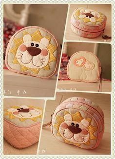 桃子_新浪博客.  Cute applique design.