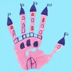 Handprints Schloß - eine von 38 Handprint-Motiven aus dem Handprints PDF