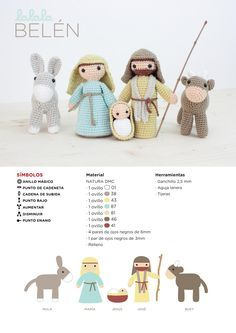 Os regalamos este patrón de ganchillo para realizar un belén de amigurumi. Está hecho por Lalala Toys http://www.lalalatoys.com/ con hilo de algodón Natura Just Cotton para DMC www.dmc-es.com