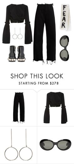 """""""Fear"""" by carocuixiao ❤ liked on Polyvore featuring Marques'Almeida, Christian Siriano, STELLA McCARTNEY, VFiles, Acne Studios and Nicholas Kirkwood"""