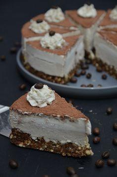 No bake tiramisu cake / Tiramisu-Torte - #vegan -