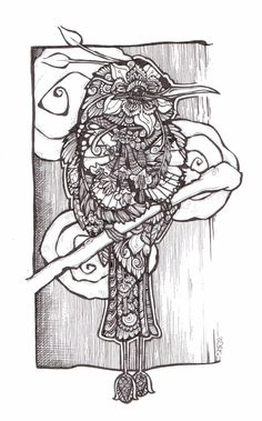 Hummingbird Zentangle Style Doodle By Shroo