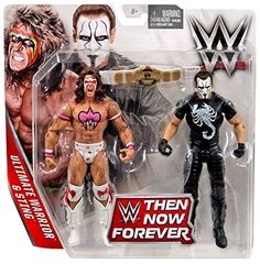 WWE, Basic Series, 2016 Then Now Forever, Ultimate Warrior and Sting Action Figures