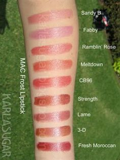 Mac Frost Lipstick Swatches