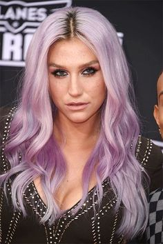 50 Shades Of Rainbow Hair #refinery29  http://www.refinery29.com/colorful-hair-tips#slide-15  Kesha gave lavender a try — in a steelier, more saturated shade than Nicole Richie.