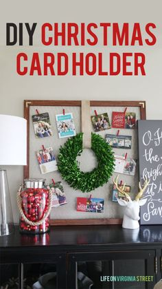 DIY Christmas Card Holder - Life On Virginia Street