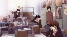 at the office sekaiichi hatsukoi shungiku nakamura (My favorite part of the anime. I laugh sooo hard ^^)