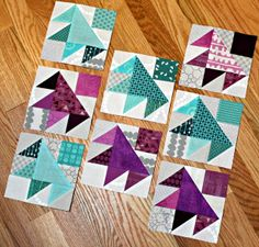 A Quilter's Table - Darting Bird blocks - tutorial by whitney (the peacock tree)