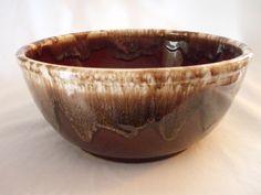 Vintage Kathy Kale 8.5 inch brown Drip bowl Watt pottery FREE SHIP  $44 OBO