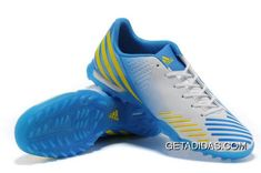 Beckham Soccer, Adidas Predator Lz, Soccer Shoes, Blue And White, Yellow, Trx, Outlets, Luxury, Boots
