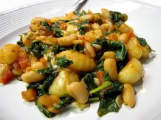 Skillet Gnocchi With Spinach & White Beans (not as soupy as the other one)