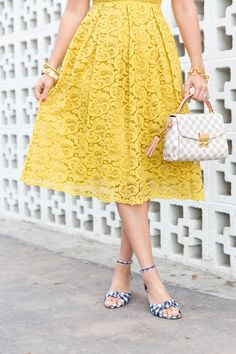 Yellow Lace Dresses, Cute Dresses, Dress Attire, Dress Up, Spring Summer Fashion, Spring Outfits, Vintage Inspired Outfits, Sweet Dress, Fashion Story