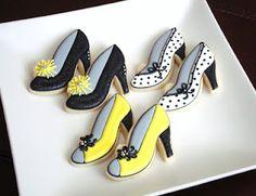 Cute high heel cookies!