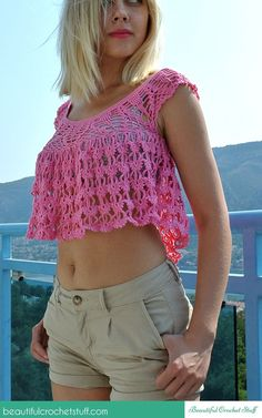 crochet summer top free pattern