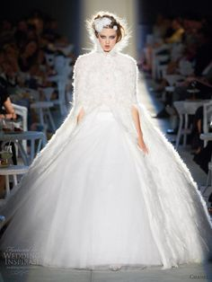 Chanel fall 2012 2013 couture wedding dress ball gown