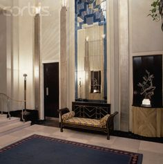 Claridge's Hotel contains some of the finest Art Deco designs from the 1920s.