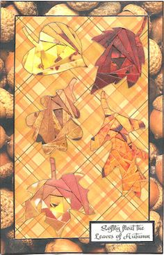 iris paper folding - fall leaves