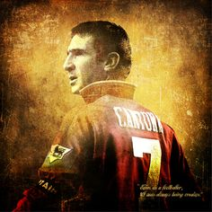 Eric Cantona. One of the 20 players who earnt his place in the Premier League 20 Icons book to celebrate the anniversary of the 20th season of the Premier League football.
