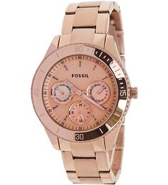 Rose Gold Fossil Watch...nice.