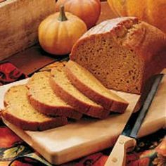 Pumpkin Spice bread... this recipe is at least 40 years old. It make a very moist bread. It's been described as tasting like pumpkin pie without the crust. i have made this and it is simply wonderful, my go to recipe for pumpkin bread.