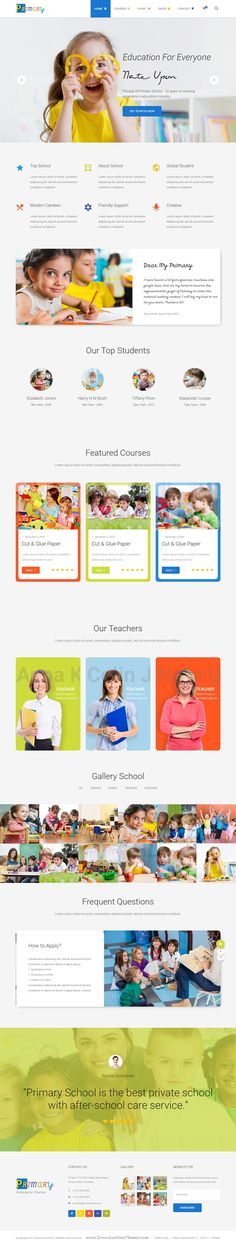 Primary is a nice and creative Kids & #Kindergarten School Bootstrap HTML template. #website