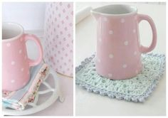 Love this pink polka dot dishes...