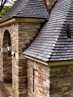 Photo about Stone gatehouse with slate roof. Image of concrete, entrance, slate - 1189148 Roof Architecture, Architecture Details, Stone Cottages, Slate Stone, Farm Cottage, Slate Roof, Roof Tiles, Stone Veneer, House Roof