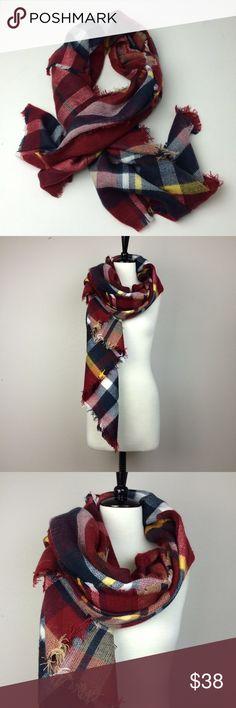 "Brand new plaid blanket scarf Brand new never worn. Dimension approximately 54"" x 54"". Boutique brand, nor Zara. Zara Accessories Scarves & Wraps"