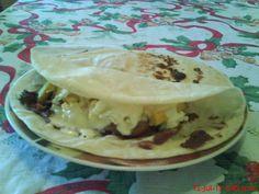 Receta de tortillas de harina rellenas
