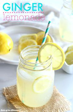 This Ginger Lemonade is an easy way to make your spring get togethers more elegant and fun. All you need is two simple ingredients and you're ready to sip! Used crystal light lemonade ! Fruit Drinks, Drinks Alcohol Recipes, Non Alcoholic Drinks, Cocktails, Cold Drinks, Acholic Drinks, Cocktail Recipes, Drink Recipes, Summer Desserts