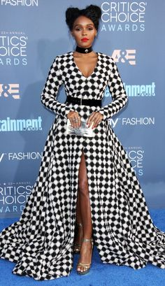 Best and Boldest Looks at the 2016 Critics' Choice Awards Critics Choice Awards 2016 Best Dressed Stars - Janelle MonaeCritics Choice Awards 2016 Best Dressed Stars - Janelle Monae White Fashion, Fashion Top, Fashion Fall, Fashion Trends, Red Carpet Looks, African Dress, Female Models, Women Models, Beautiful Black Women