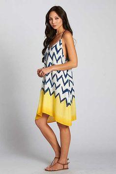 Love Stitch Chevron Print Dress for Women I-70275NIV