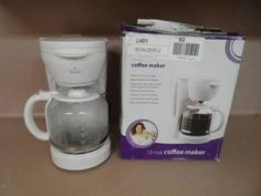 COFFEE MAKER, 12 CUP, RIVAL.WHITE COLOR, NEW IN BOX.