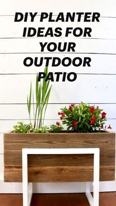 Diy Planters, Garden Planters, Outdoor Projects, Garden Projects, Outdoor Living, Outdoor Decor, Lawn And Garden, Backyard Landscaping, Curb Appeal