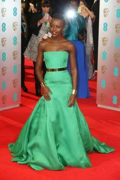 Lupita Nyong'o.  Flawless woman, flawless dress