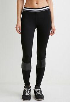 Striped-Waist Athletic Leggings | Forever 21 - 2000172306