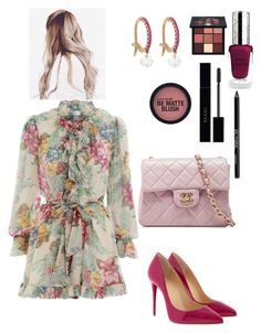 """""""Untitled #200"""" by lovelifesdreams on Polyvore featuring Zimmermann, Christian Louboutin, Chanel, Raphaele Canot, By Terry, Huda Beauty, Gucci and Urban Decay"""