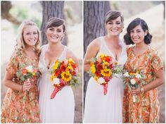 Pattern Bridesmaid Dress