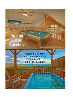 Find last minute deals on dozens of cabins in Gatlinburg and Pigeon Forge. Call 866 34 SMOKY to book your stay. Smoky Mountain Cabin Rentals, Smoky Mountains Cabins, Great Smoky Mountains, Smoky Mountains Attractions, Gatlinburg Cabin Rentals, Vacation Destinations, Vacations, Last Minute Deals, Pigeon Forge Cabins