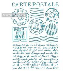 Stencil G Carte postale