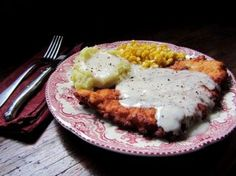 Chicken-fried chicken with peppered milk gravy beats ordinary fried chicken, says Fran Hill.