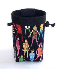 60's fashion chalk bag, rock climbing fashion, climbing chalk bag, chalk bag climbing