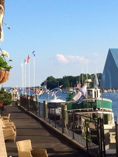 L'Escale at The Delamar, Greenwich, CT- al fresco dining overlooking the harbor and Long Island Sound.