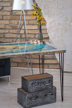 Epoxy resin table. Made by gkartbox Hungary