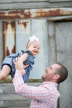 fun with daddy, one year photo session - Elizabeth Cayton Photography - Eastern NC Portrait & Wedding Photographer