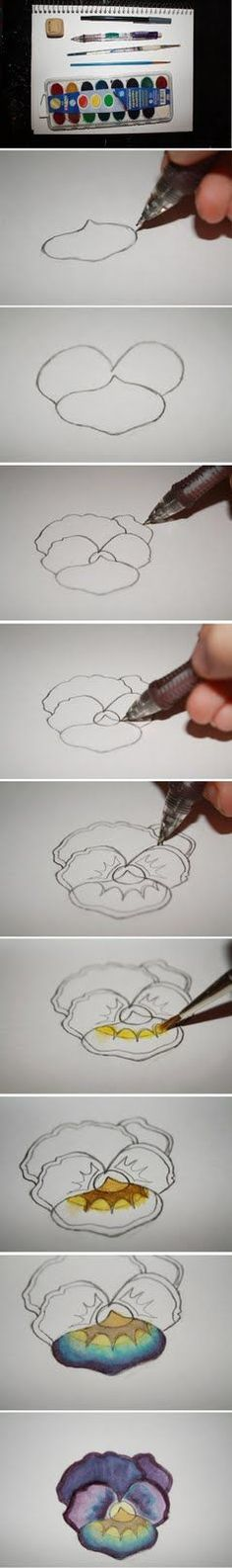 how to paint a pansy