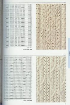 Beautiful stitch patterns for knitting. Lace Knitting Patterns, Knitting Charts, Lace Patterns, Knitting Designs, Knitting Stitches, Stitch Patterns, Cable Knitting, Knitting Books, Hand Knitting